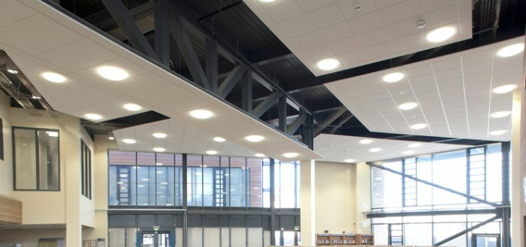 Office-ceiling-rafts-panel-white