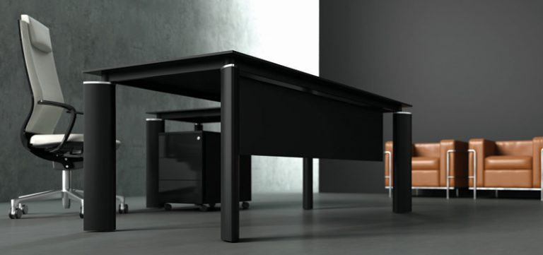 executive-office-desks-in-black-with-pedestal-and-modesty-panel