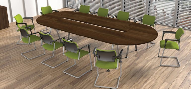 office-boardroom-furniture-in-Dark-Walnut-with-Green-chairs