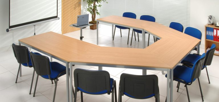 office-training-rooms-trapezoidal-table-with-Silver-Legs