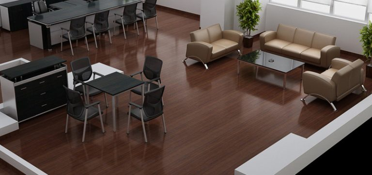 wood flooring office and reception room